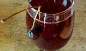 Вишня у власному соку з цукром