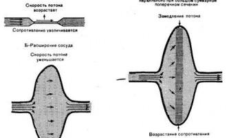 Взаємовідносини між площею поперечного перерізу судин - динаміка серцево-судинної системи